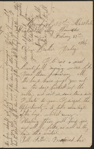 Letter from William Jubb, Lookout Valley, Tennessee, to Jabez Jubb, February 29, 1864