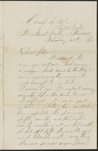 Letter from William Jubb, Lookout Valley, Tennessee, to Thomas Jubb, West Chelmsford, Mass., February 25, 1864
