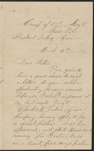 Letter from William Jubb, Lookout Valley, Tenn., to Thomas Jubb, West Chelmsford, Mass., March 16, 1864