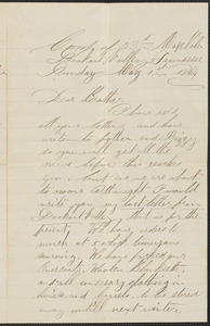 Letter from William Jubb, Lookout Valley, Tennessee, to Jabez Jubb, West Chelmsford, Mass., May 1, 1864
