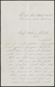 Letter from Fredric A. Griffin, Dale General Hospital, Worcester, Mass., to William Jubb, Chelmsford, Mass., May 2, 1865