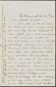 Letter from Joe Culley, No. Weymouth, to William Jubb, West Chelmsford, Mass., November 26, 1865