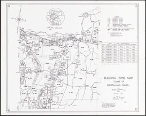 Building zone map of Wilbraham, Mass.