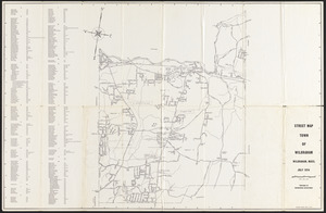 Street map of town of Wilbraham, Mass.