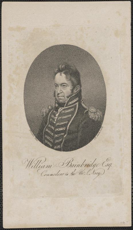 William Bainbridge Esq. Commodore in the U.S. Navy