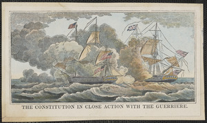 The constitution in close action with the Guerriere