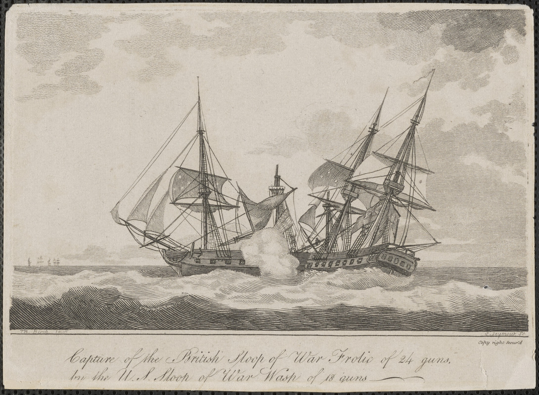 Capture of the British Sloop of War Frolic of 24 guns, by the U.S. Sloop of War Wasp of 18 guns