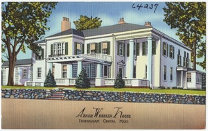 Abner Wheeler House, Framingham Centre, Mass.