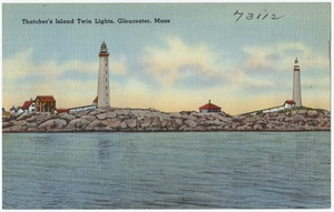 Thatcher's Island, Twin Lights, Gloucester, Mass.
