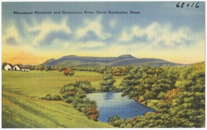 Monument Mountain and Housatonic River, Great Barrington, Mass.