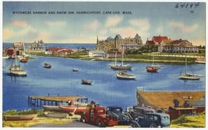Wychmere Harbor and Snow Inn, Harwichport, Cape Cod, Mass.