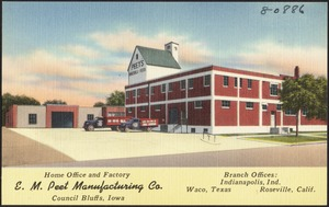 E. M. Peet Manufacturing Co., Home office and factory, Council Bluffs, Iowa
