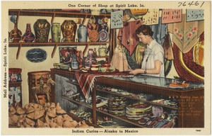 One Corner of Shop at Spirit Lake, Ia., Indian Curios -- Alaska to Mexico