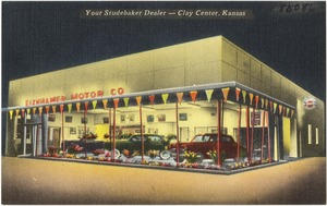 Eiznhamer Motor Co., Your Studebaker Dealer -- Clay Center, Kansas