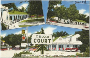 Cedar Court Motel & Coffee Shop, On Route U. S. 24 & Hiway 15, Clay Center, Kansas