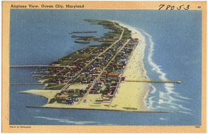 Airplane view, Ocean City, Maryland