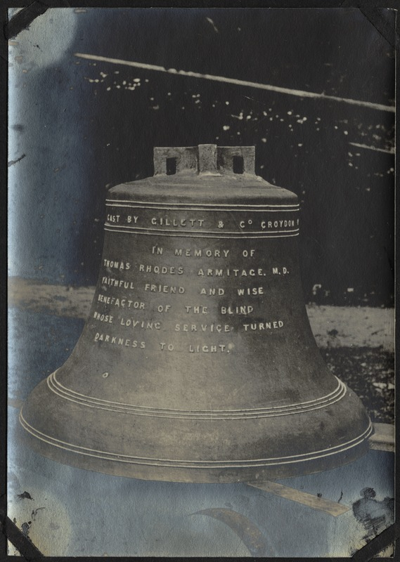 Armitage Bell, The Royal Normal College for the Blind, England