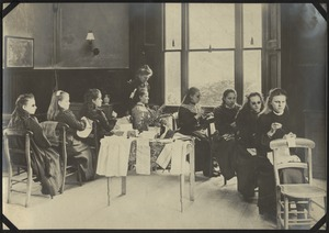 Sewing Class, The Royal Normal College for the Blind, England