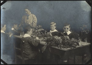 Nature Study Class, The Royal Normal College for the Blind, England
