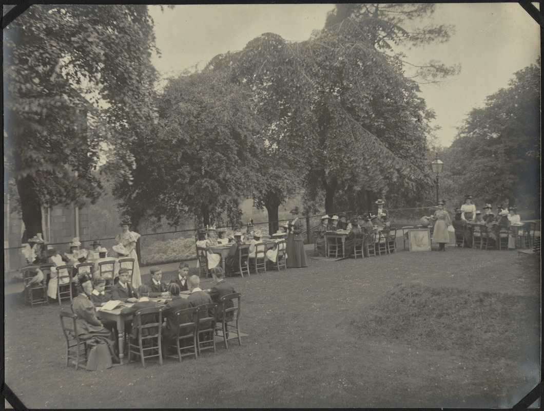 """Classes on """"The Mount"""" Lawn, The Royal Normal College for the Blind, England"""