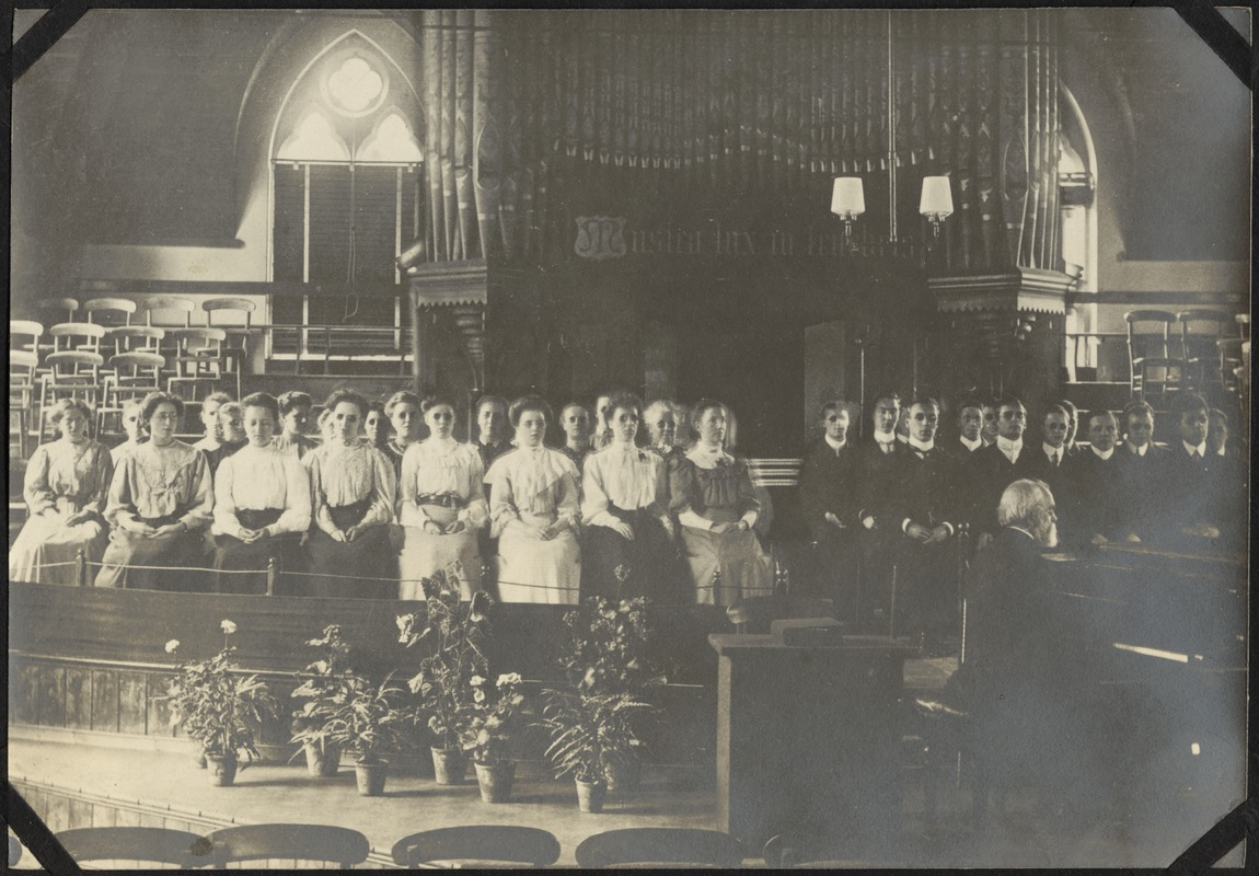 Choir in Gardner Hall, The Royal Normal College for the Blind, England