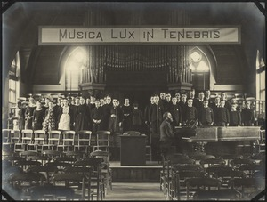 Choir Practice in Gardner Hall, The Royal Normal College for the Blind, England