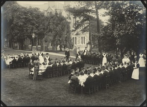 "Tea on ""The Mount"" Terrace, The Royal Normal College for the Blind, England"