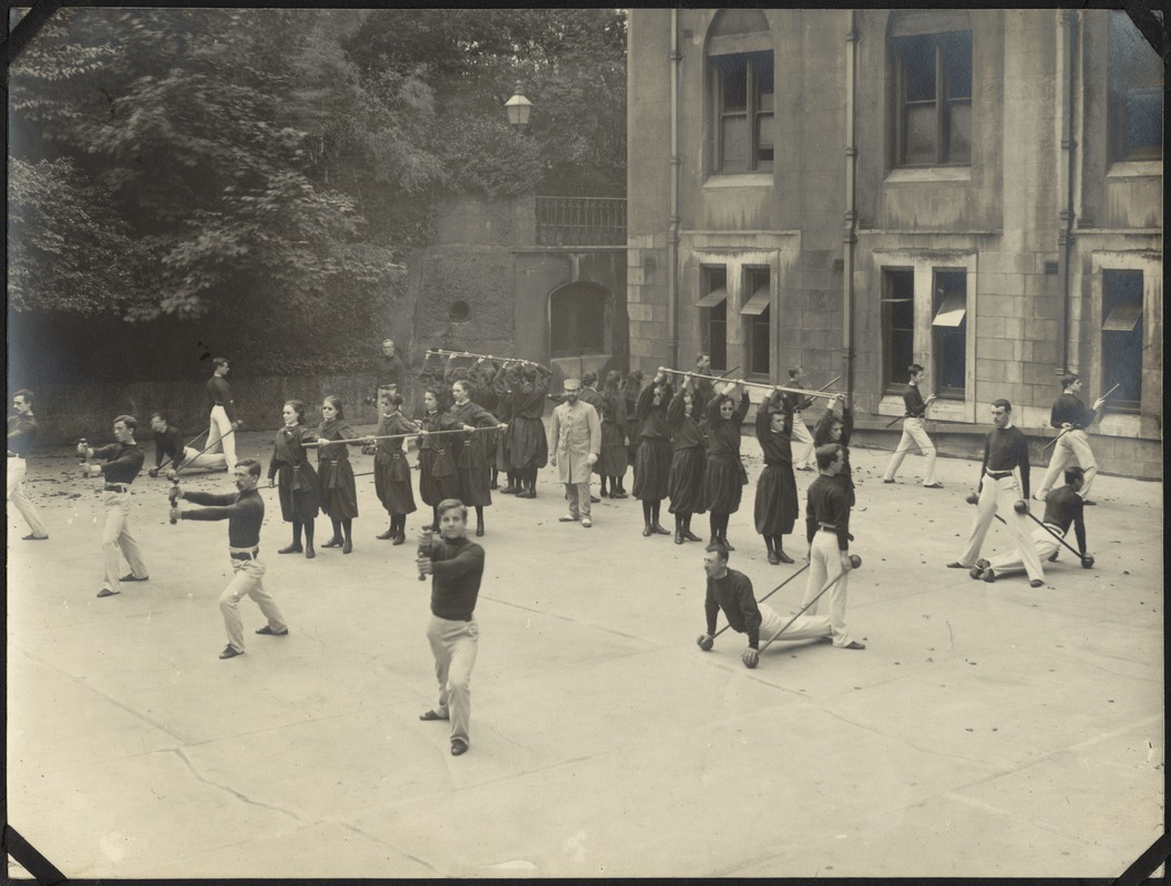 Exercising on Parade Ground, The Royal Normal College for the Blind, England