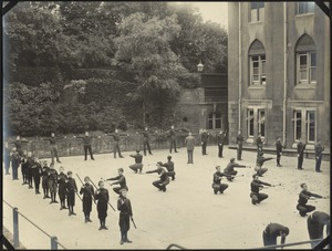 Group Exercise, The Royal Normal College for the Blind, England