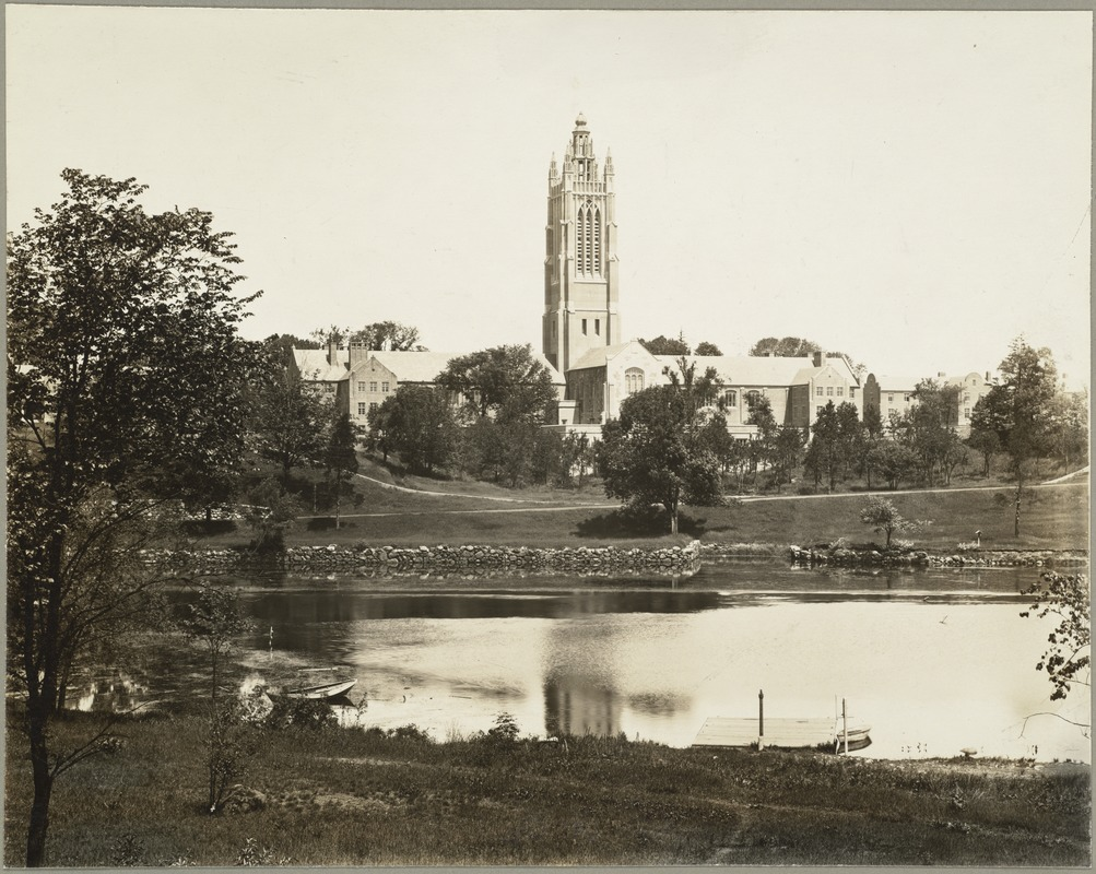 Campus of Perkins School for the Blind from Charles River