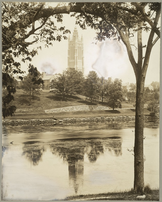 Charles River with Howe Building Tower in Background