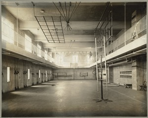 Construction of Upper School Gym, Perkins School for the Blind