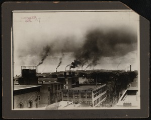 Bird's Eye View of Commercial Rooftops, New Bedford