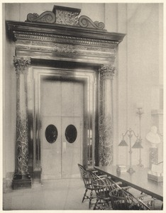 Doorway in Bates Hall, of Belgian serpentine marble.