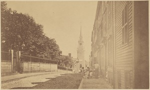 North End street, Old North Church (Christ Church) in the distance
