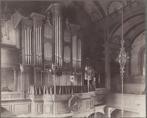 Boston, Massachusetts. Organ loft