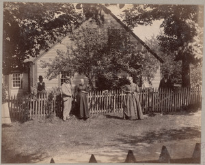 Home of Maggie Faulkner with Mr. Edwin Blanchard - Francestown - N.H.