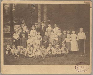 Group portrait of children from the North End Mission