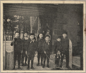 Portrait of boys from the North End Mission