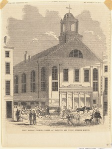 First Baptist Church, corner of Hanover and Union Streets, Boston