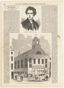 Portrait of Rollin H. Neale, D. D. ; First Baptist Church, corner of Hanover and Union Streets, Boston