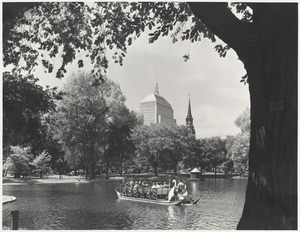 Boston Public Garden with swan boat