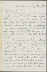 Letter from William Lloyd Garrison, Providence, [R.I.], to Wendell Phillips Garrison, July 19, 1870