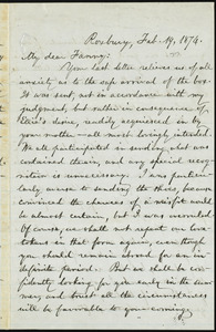 Letter from William Lloyd Garrison, Roxbury, [Mass.], to Fanny Garrison Villard, Feb. 19, 1874