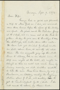 Letter from William Lloyd Garrison, Orange, [N.J.], to Helen Eliza Garrison, Sept. 9, 1874