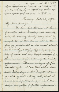 Letter from William Lloyd Garrison, Roxbury, [Mass.], to Fanny Garrison Villard, Feb. 23, 1878