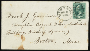 Letter from William Lloyd Garrison, Westmoreland House, New York, to Francis Jackson Garrison, May 2, 1878