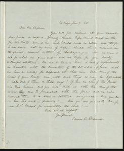 Letter from Emma C. Willard, Uxbridge, [Mass.], to Maria Weston Chapman, June 9, [18]45