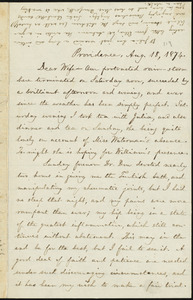 Letter from William Lloyd Garrison, Providence, [R.I.], to Helen Eliza Garrison, Aug. 18, 1874