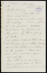 Letter from John Mawson, Newcastle, [England], to William Lloyd Garrison, Oct. 15th, 1846